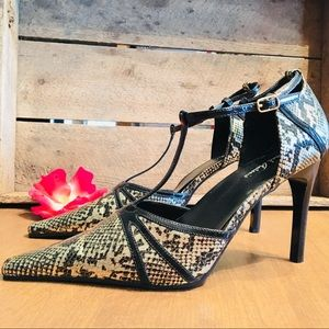 MICHAEL ANTONIO Snake Heels Size 8